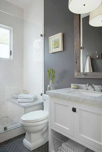 small white toilet