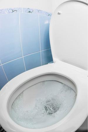 toilet flushing water