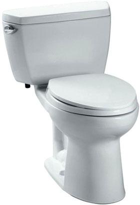TOTO Eco Drake CST744EL#01 Elongated Toilet