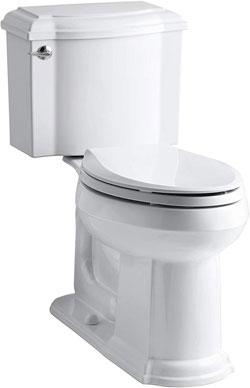 Kohler K-3837-0 Devonshire Comfortable Height Elongated Toilet