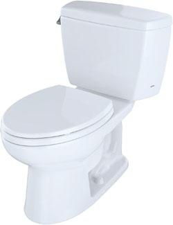 Toto Drake 2-Piece Cst744sl#01 Elongated Bowl Toilet