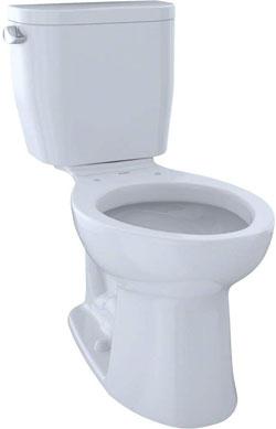Toto Entrada CST244EF#01 Two-Piece Elongated Cotton White Toilet